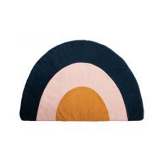 Nobodinoz孩童秘密 法国进口北欧风格家用垫子彩虹丝绒地垫图片
