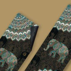 唯卡洛麂皮绒瑜伽垫铺巾天然橡胶垫超薄吸汗防滑女可折叠便携式户外旅行图片