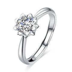 mingzuan/鸣钻国际 PT950铂金钻戒女钻石戒指求婚结婚戒指图片