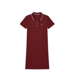 【商场同款】HAZZYS/哈吉斯 2020夏季新款女士连衣裙运动休闲简约POLO裙AQWSE00BE14图片