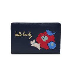 Radley/蕾德莉英国 女士可爱条纹印花中号双折钱包新品牛皮革零钱包S1025064图片