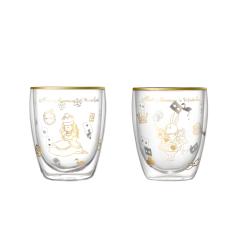 大英博物馆 爱丽丝漫游奇境双层玻璃杯水杯图片