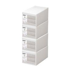 套装日本进口抽屉式收纳盒 组合收纳柜  内衣整理箱 衣物收纳箱 利快likeit简易衣柜 储物箱图片
