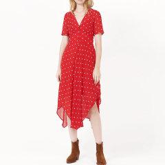 GeleiStory/GeleiStory新款女裙夏花朵刺绣V领中长款女士连衣裙图片