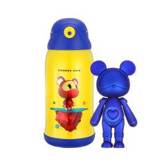 星际熊儿童保温杯摆件礼品套装吸管两用水杯小学生大容量保温水壶 560ml图片