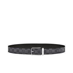 【包邮包税】特价Louis Vuitton/路易威登  经典灰色老花小牛皮配帆布腰带图片