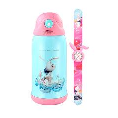 星际熊埃莉诗兔子保温杯儿童手表开学礼品套盒小学生带吸管水杯 560ml图片