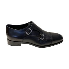 Louis Vuitton/路易威登  牛皮水波纹搭扣男士商务休闲皮鞋图片