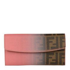 FENDI/芬迪 女士棕色渐变色徽标长款手拿包钱包图片