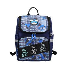 星际熊新款背包英伦风小学生书包轻便防水青少年双肩背包潮流图片