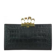 Alexander McQueen/亚历山大麦昆  女士黑色皮革手拿包 460427DZT0M1000图片