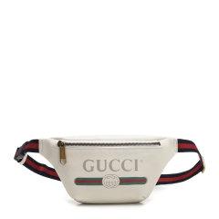 【包税】GUCCI/古驰 男士牛皮logo胸包斜挎包腰包图片