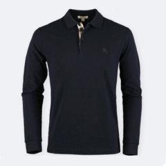 BURBERRY/博柏利  男款奢侈品格纹开襟长袖Polo衫3982164图片