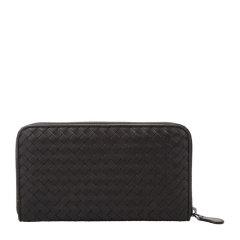 【包税】Bottega veneta/宝缇嘉 男士牛皮经典编织长款钱夹钱包图片