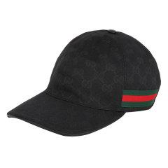 GUCCI/古驰 帽子热卖款款GG系列男女同款黑色 GG字母图红绿条纹织带装饰 棉质混纺遮阳运动帽棒球帽 200035 KQWBG 1060图片