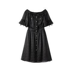 bebe/bebe 【Designer Womenwear】2020夏季新品女士连衣裙一字肩短袖连衣裙司马克松紧腰短裙 250062图片
