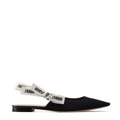 【包税】DIOR/迪奥  JADIOR蝴蝶结装饰系带布面平底鞋 两色可选 KCB384TFL_S21U图片