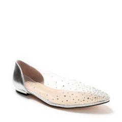 【国内现货】2020春夏新款DK UGG欧美透明尖头平底单鞋水钻仙女浅口低跟鞋子 DA662图片