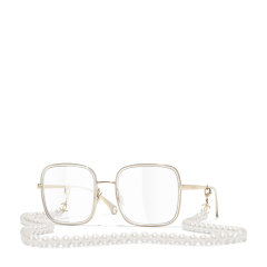 CHANEL/香奈儿新款珍珠链条眼镜框Chanel时尚平光近视方框眼镜架女CH2195图片