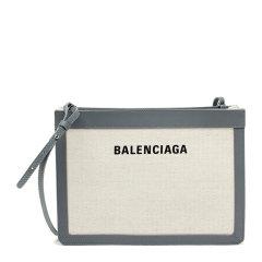 【包税】Balenciaga 巴黎世家  女士帆布配皮logo印花单肩斜挎包图片