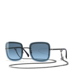 CHANEL/香奈儿 2020新款 香奈儿墨镜 太阳镜 方框 时尚链条款 型号ch4244 单链条款图片