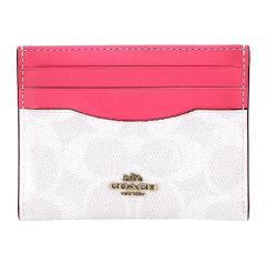 【20年春夏新款】COACH/蔻驰奢侈品女士专柜款人造革配皮卡包卡夹粉拼色31541B4R7C图片