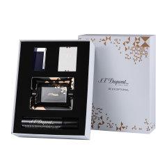 S.T. DUPONT/都彭slim7轻薄系列 充气防风打火机气体黑色烟灰缸礼盒套装图片