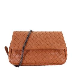Bottega Veneta/葆蝶家 女士羊皮编织链条包单肩斜挎包图片