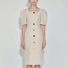 JSNY_ 收腰气质显瘦女神范连衣裙图片