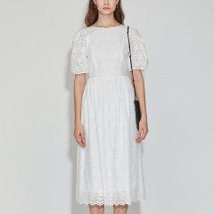 JSNY_ 式气球袖连衣裙图片