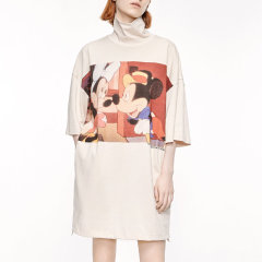 MO&Co./摩安珂女士连衣裙2020秋季新品合作系列怀旧米奇印花T恤连衣裙MBO3DRST02图片