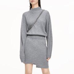 MO&Co./摩安珂女士连衣裙秋季简约圆领纯色羊毛连衣裙MBO4DRSX04图片