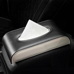 QUEES/乔氏 真皮车用纸巾盒 汽车车载座式抽纸盒图片