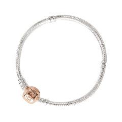 【国内现货】PANDORA/潘多拉女士玫瑰金色心形链扣手链图片