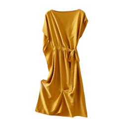 GeleiStory/GeleiStory重磅真丝女士连衣裙 夏季新款女装气质不规则桑蚕丝裙子女图片