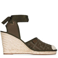 FENDI/芬迪  女士绿色坡跟高跟鞋高跟鞋图片