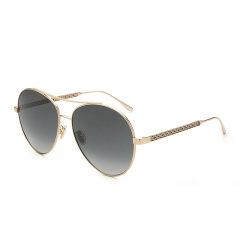 Jimmy Choo/周仰杰 新款太阳眼镜 时尚双梁太阳镜 圆框中性墨镜 NORIA/F/S图片