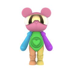 星际熊拼色眼罩系列摆件创意礼品家居摆设玩具公仔人偶手办145mm图片