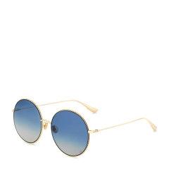 【杨采钰同款】DIOR/迪奥 金属大框太阳镜 墨镜女 复古圆形太阳眼镜 蓝色至灰色渐变色镜片 眼镜 SOCIETY 2F图片