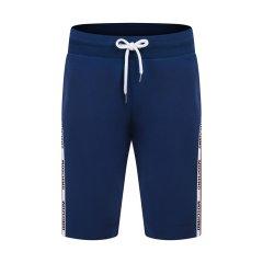 MOSCHINO/莫斯奇诺  白/黑/蓝三色可选 通勤休闲棉质抽绳五分男士短裤 1 V4306 8112 0001图片