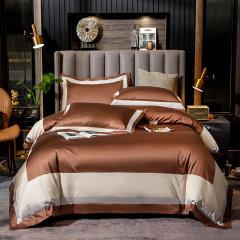 GELEISTORY【英伦家居】120支长绒棉四件套拼色简约全棉床单被套床上用品图片