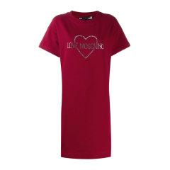 Love Moschino/爱莫斯奇诺  女装 服装 棉质心形logo图案时尚修身圆领短袖连衣裙 女士连衣裙裙装W5B1102-1958图片
