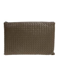 Bottega Veneta 宝缇嘉 男士羊皮经典编织商务休闲手拿包图片