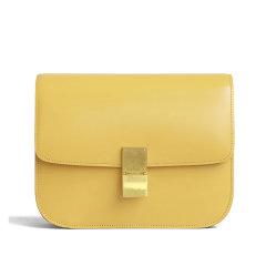 CELINE/赛琳  女士柠檬黄牛皮单肩包 189173DLS.11CT图片
