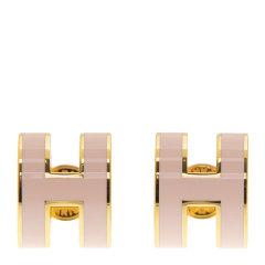 Hermès 爱马仕 女士白色H字母耳钉图片