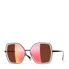 CHANEL/香奈儿 太阳镜女款 Chanel大框复古墨镜 奢华珍珠链条款 型号CH4262图片