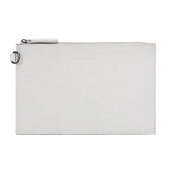 Longchamp/珑骧 黑/白/橙色三款可选 通勤女士皮质手拿包 尼龙旅行手提包 2098 968 001图片