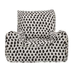 Lelbys 乐澳贝上新原创 设计儿童房布休闲阅读 宝宝扶手椅可爱墨艺飞扬沙发图片