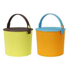 2件套日本进口儿童玩具收纳桶      利快Omnioutil炫彩多功能收纳桶网红桶可坐人储物桶凳图片