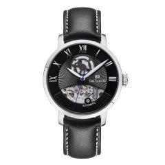 Guy Laroche/姬龙雪手表 Autorites系列男表 法国男士手表 镂空机械表钢带时尚 手表男图片